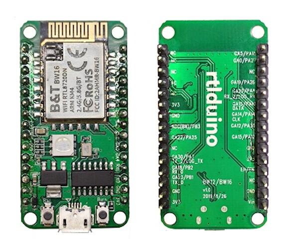 Rtlduino-RTL8720DN-dual-band-WIFi-IoT-board